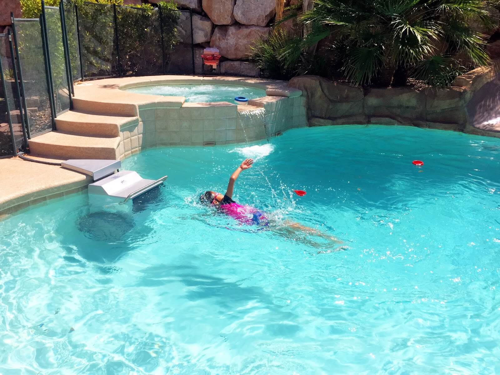 When Rod isn't triathlon training, his daughter enjoys the Endless Pools Fastlane