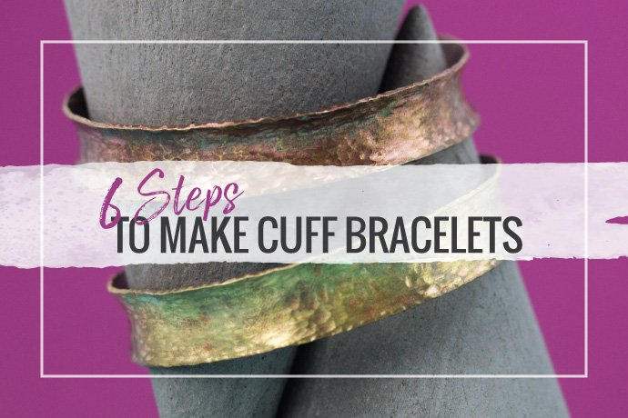 Learn how to make cuff bracelets with our bending block tool and pre-cut metal cuff blanks. Quickly bend and form metal into a comfortable piece of jewelry.