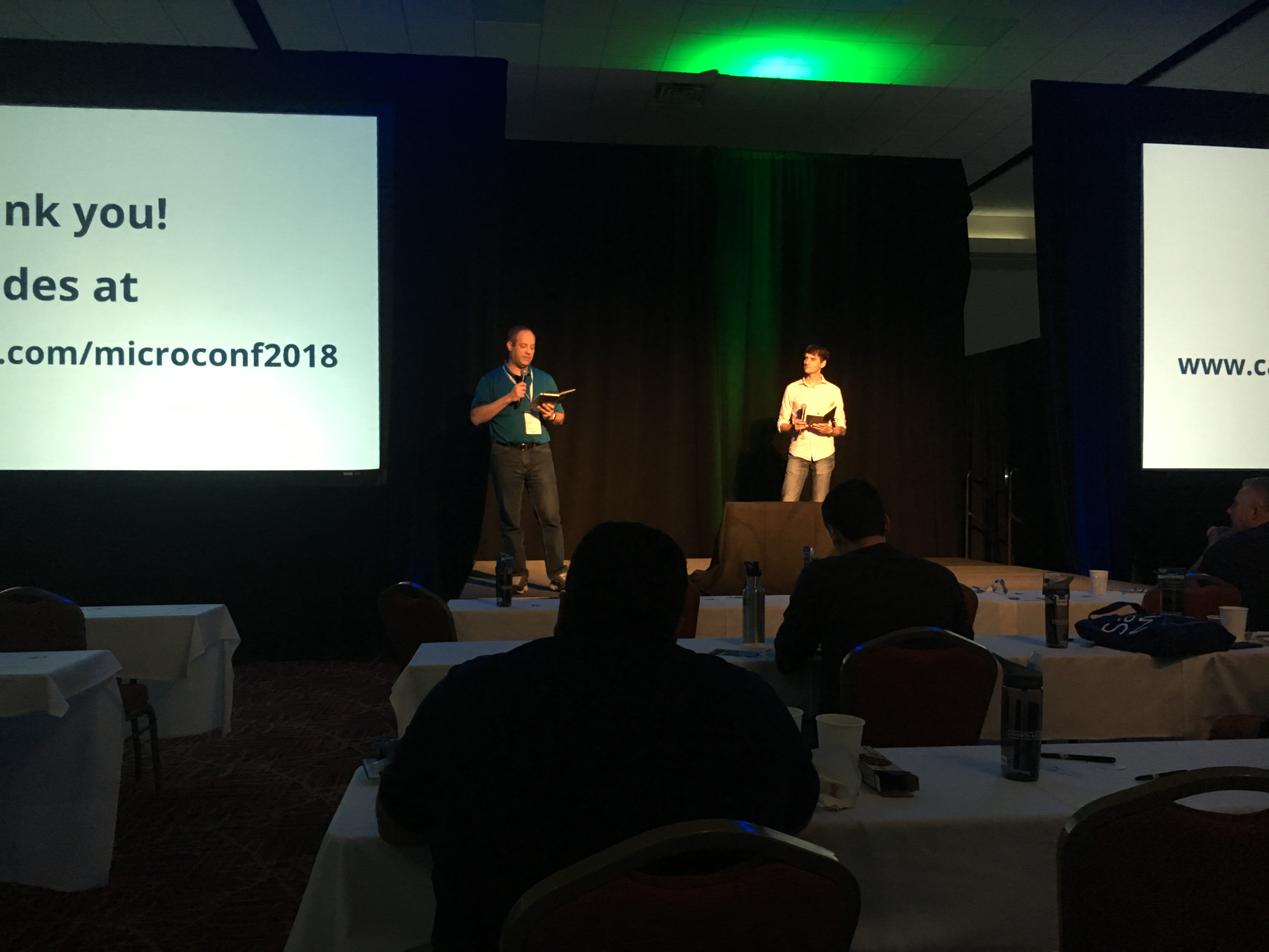 Rob Walling and Mike Taber presenting at MicroConf