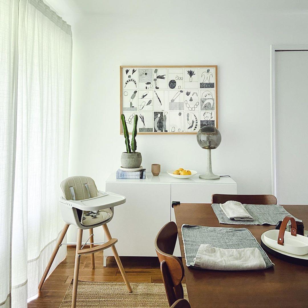 wood frame in living room