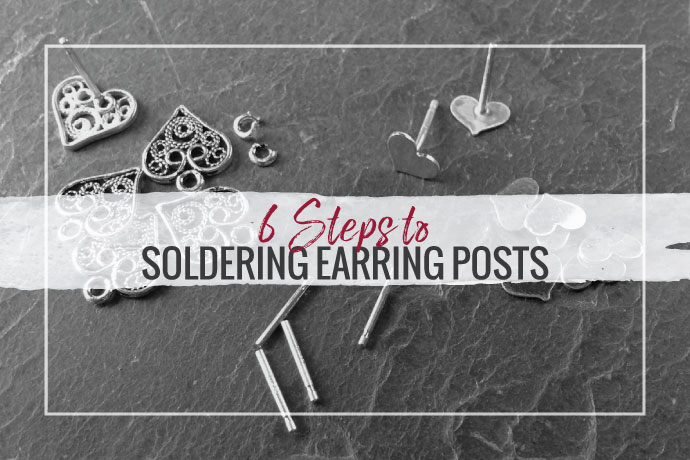 Learn how to solder earring posts in your jewelry studio with this simple step-by-step guide. We will cover the tools, supplies and techniques you need.
