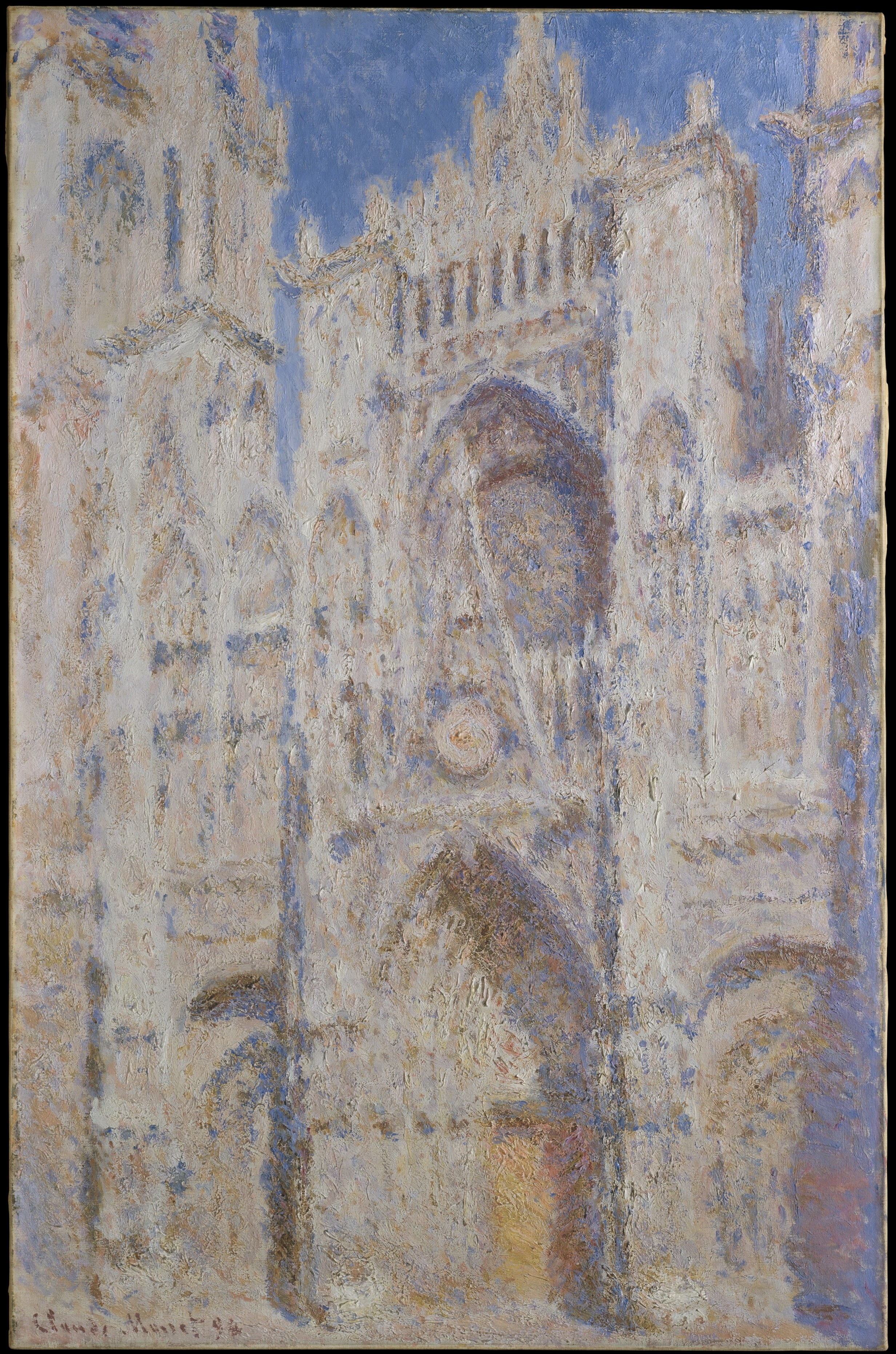 rouen cathedral the portal by claude monet
