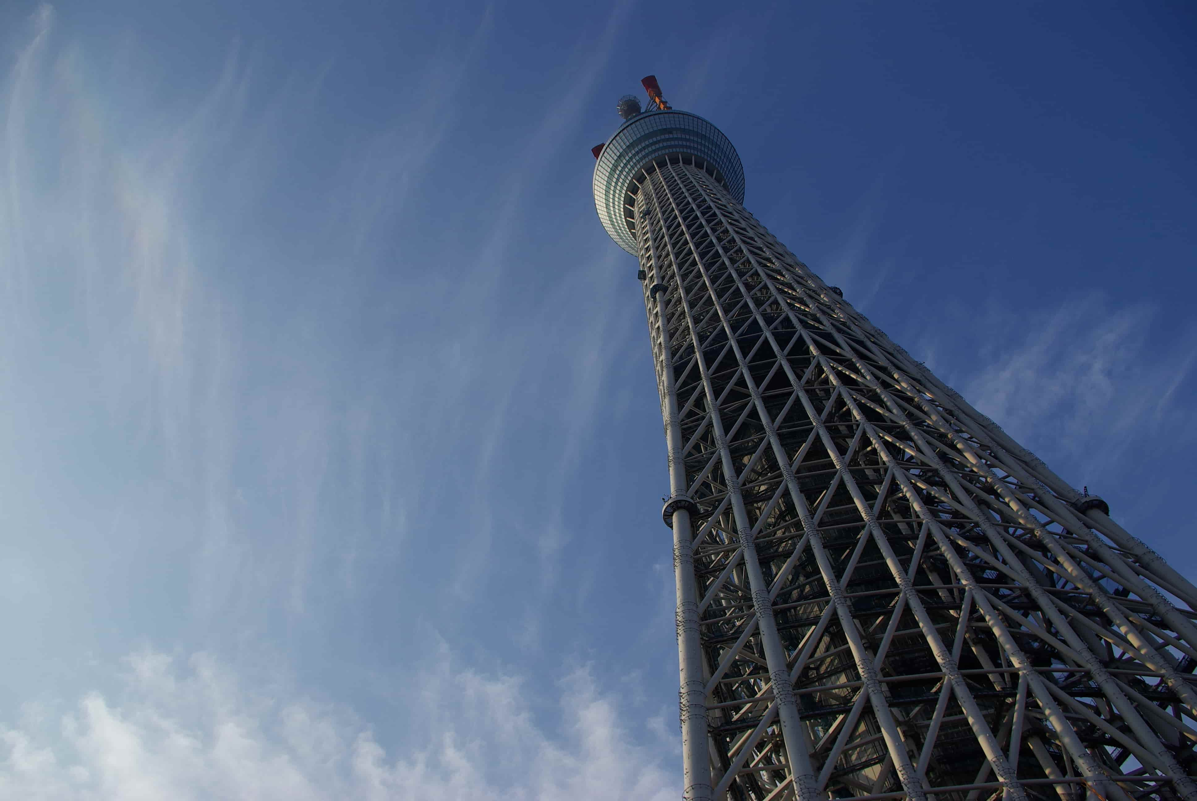 tokyo sky tree where to go in japan