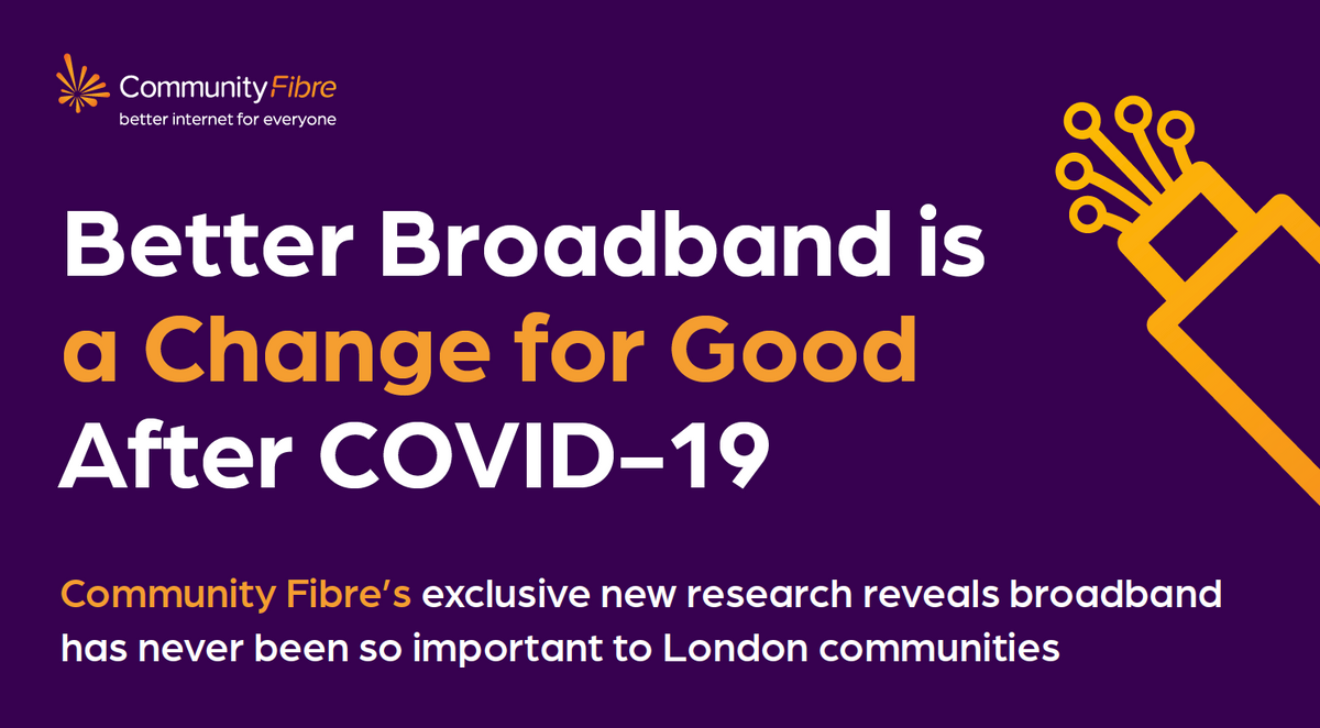 New research reveals 82% of Londoners view broadband as  one of the most important utilities since COVID-19