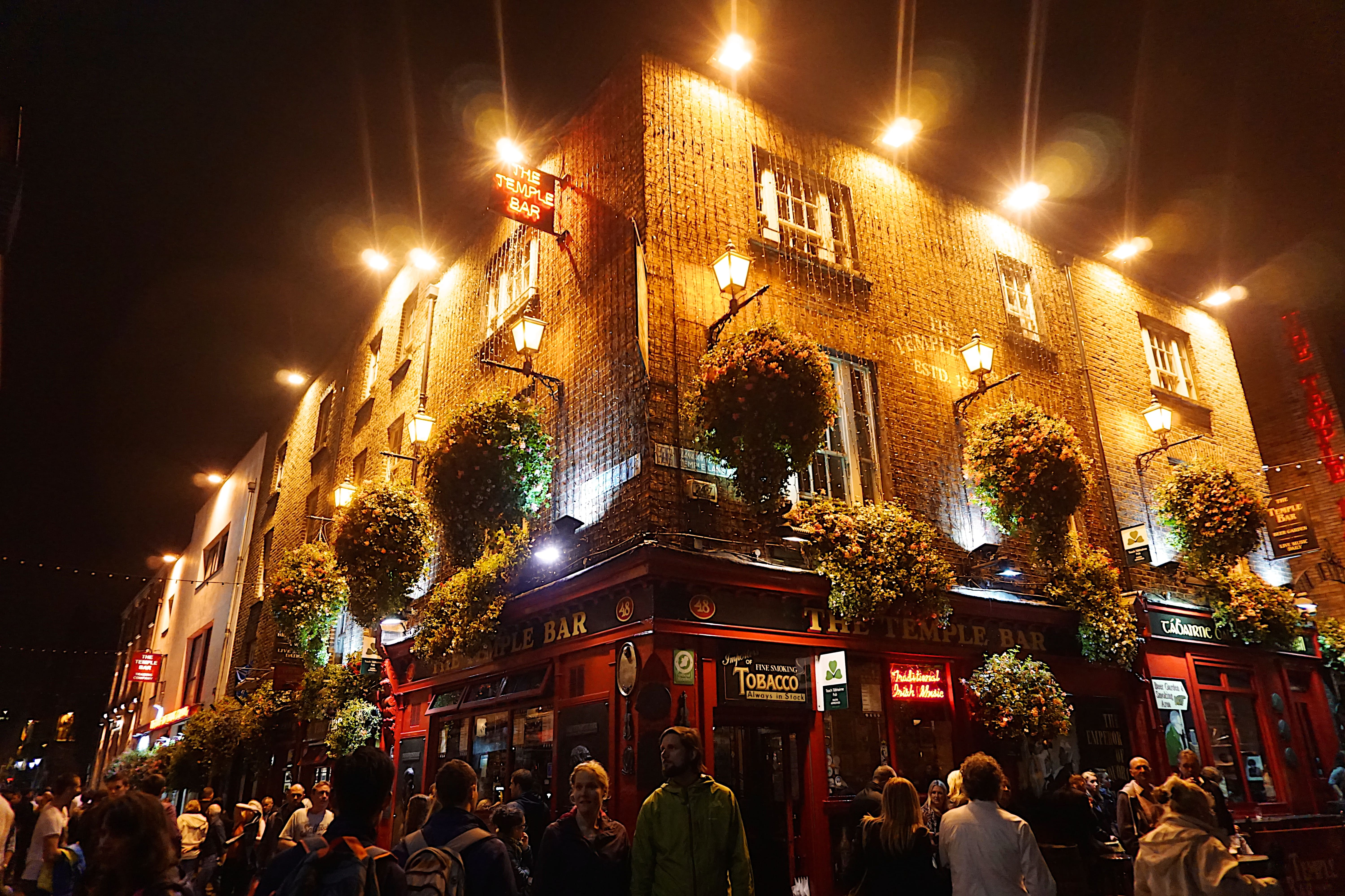 Visiting Temple Bar in Dublin is one of the best things to do in Ireland
