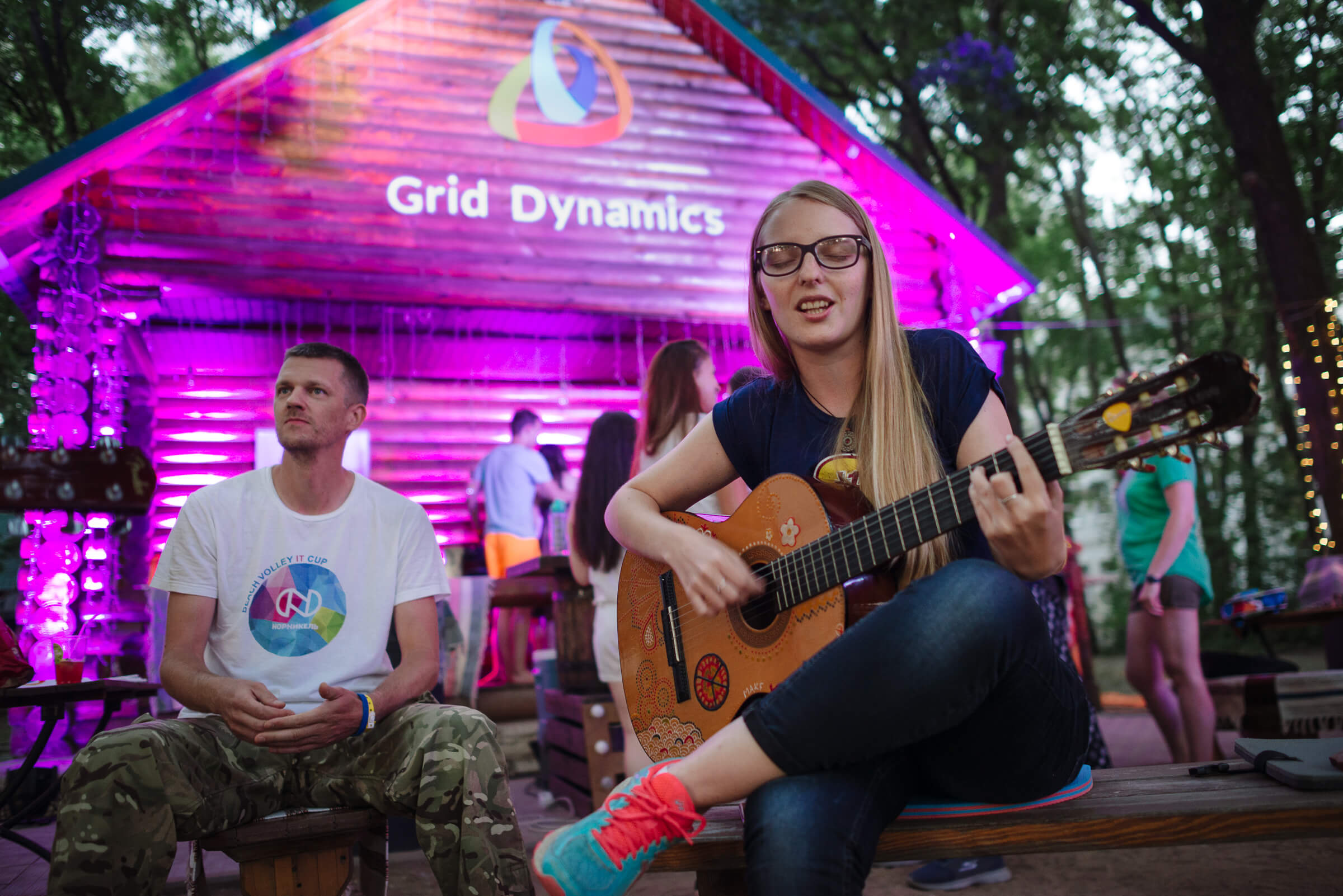 Grid Dynamics outdoor party