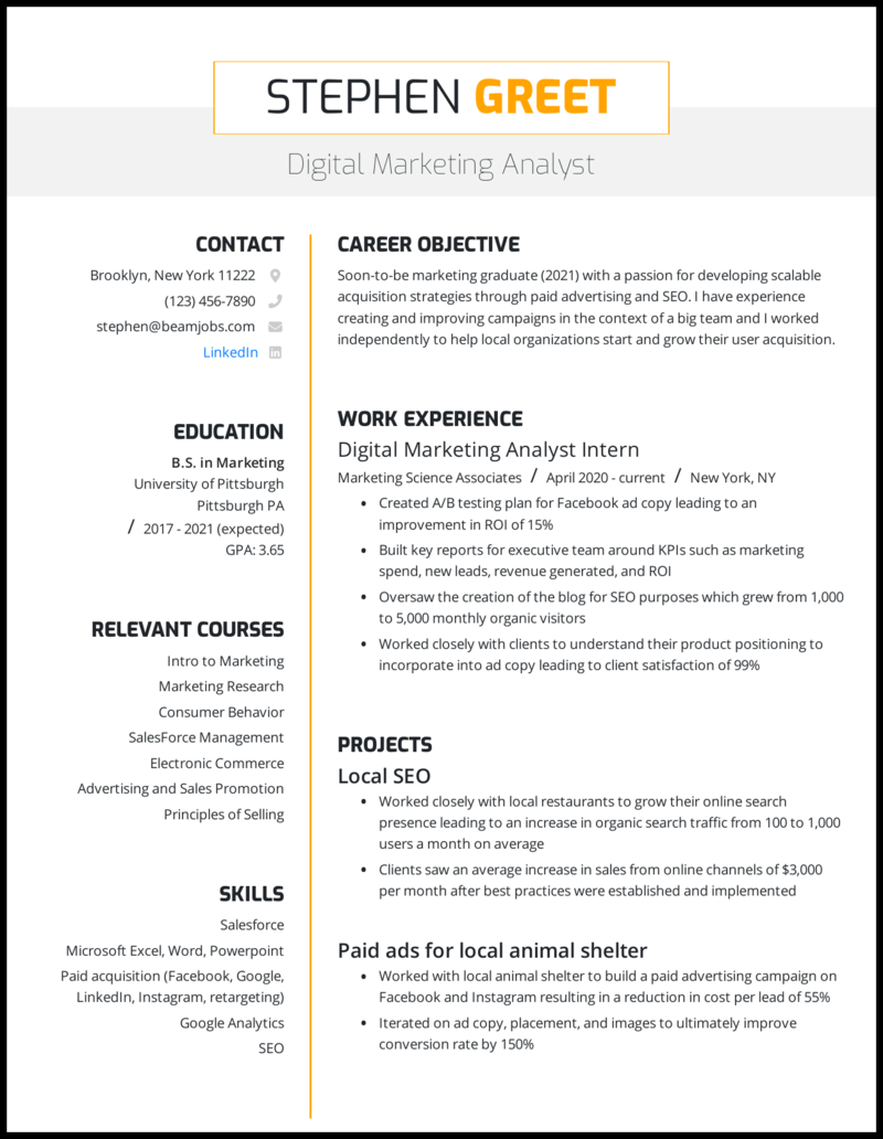 Current college student resume example qualifications for lpn resume