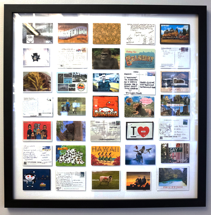 Reddit Postcards Framed