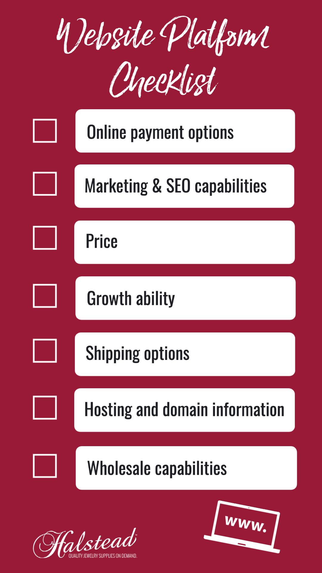 Website Platform Checklist