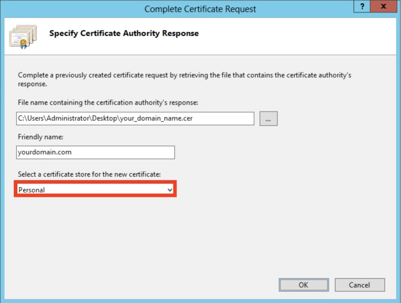 Install ssl certificate microsoft iis 8 the friendly name is not part of the certificate itself but is used by the server administrator to easily distinguish the certificate 1betcityfo Images