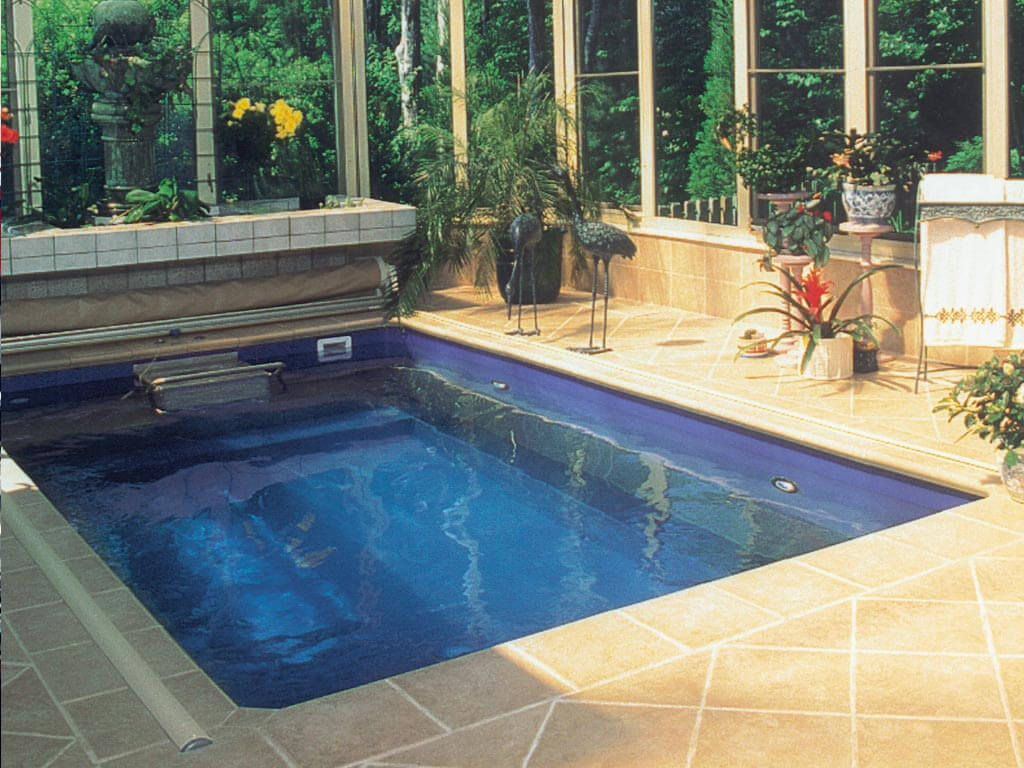 an Endless Pool in a pool enclosure