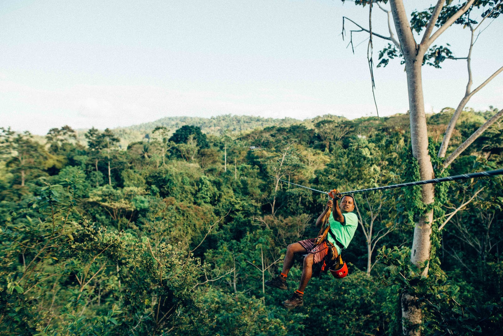 Cruising the second longest and tallest zipline is one of the fun things to do in Puerto Rico
