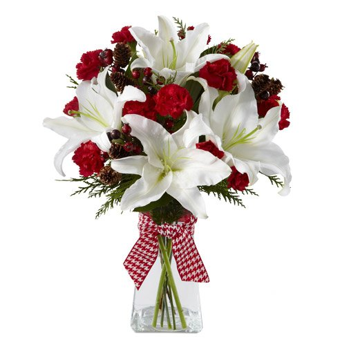 When should you not send flowers white lily and red roses bouquet