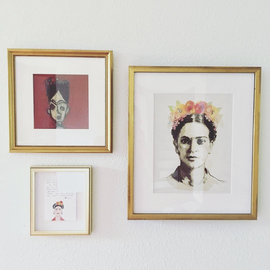 Framed Portraits of Frida Kahlo