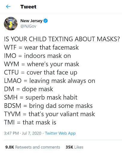 creative Twitter post