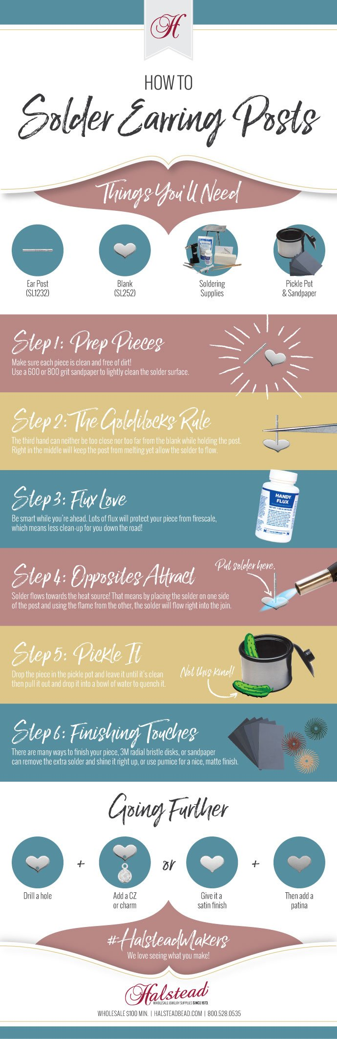 Infographic: How to Solder Earring Posts