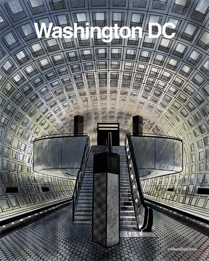 chinatown metro stop, dc
