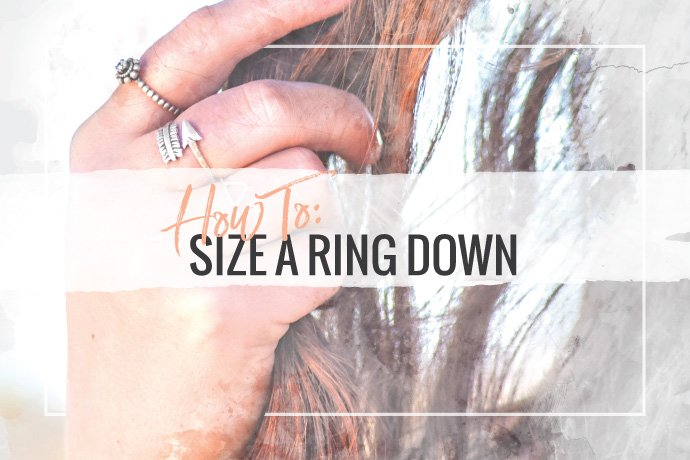 Learn how to size a ring down to a smaller size by cutting the band and removing a segment of metal. Then, solder the ring back together and refinish.