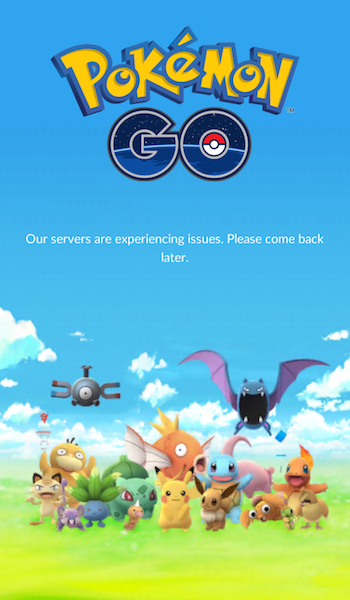 Pokemon Go Error Message