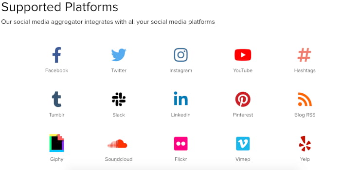 Social Media integrations