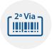 Ícone que representa a emissão de segunda via de boleto de pagamento com o desenho de um codigo de barras