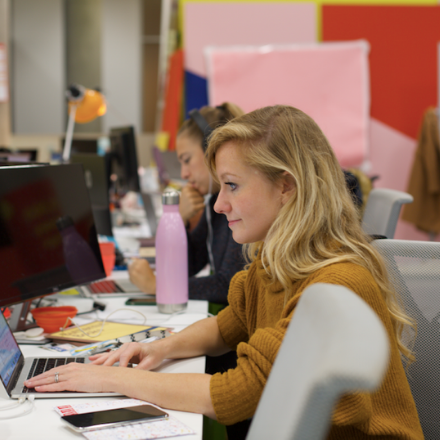 huckletree-west-resident-desks-working