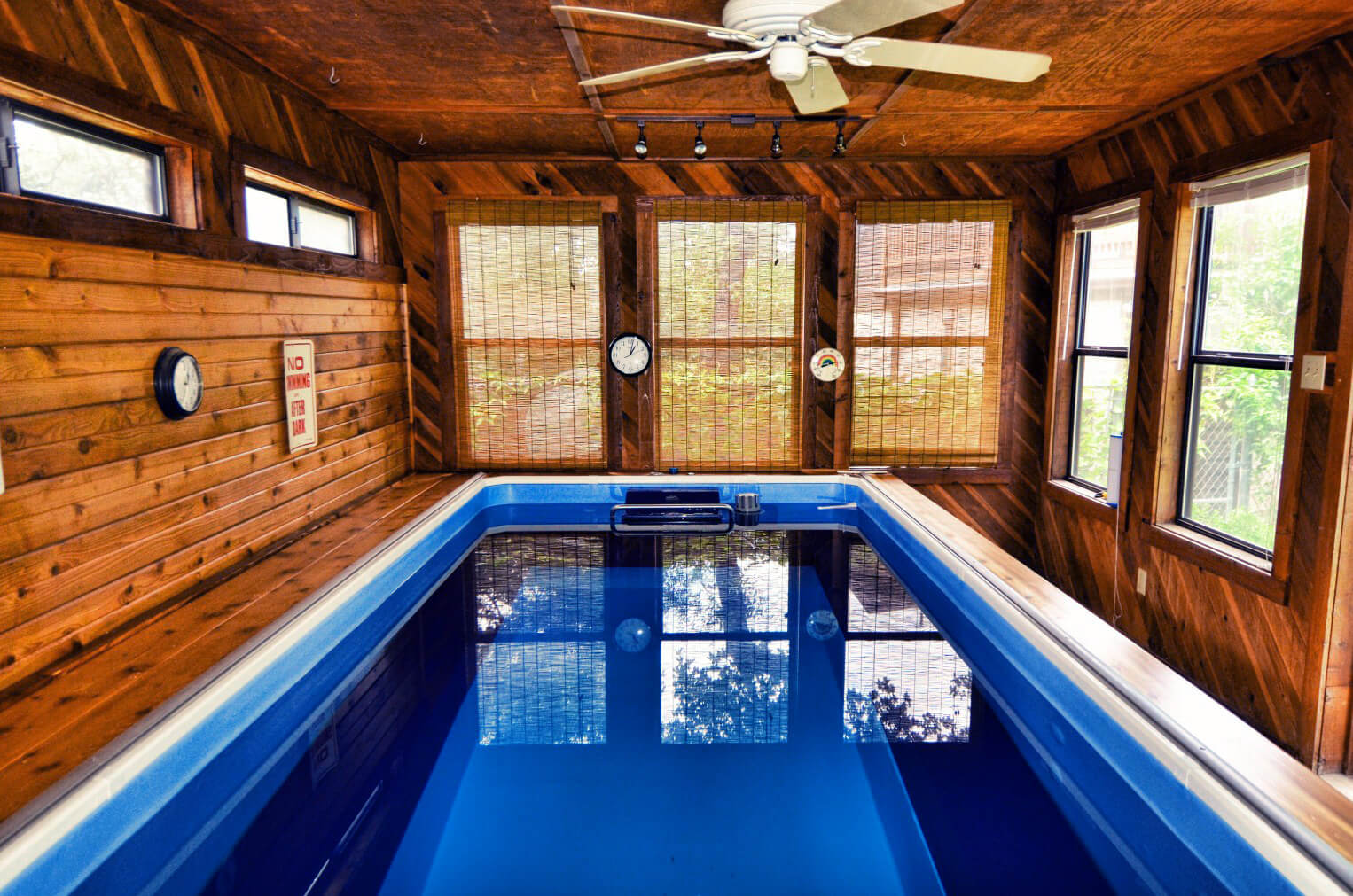 The Endless Pool in Pat Segar's pool house gets daily use for aquatic therapy