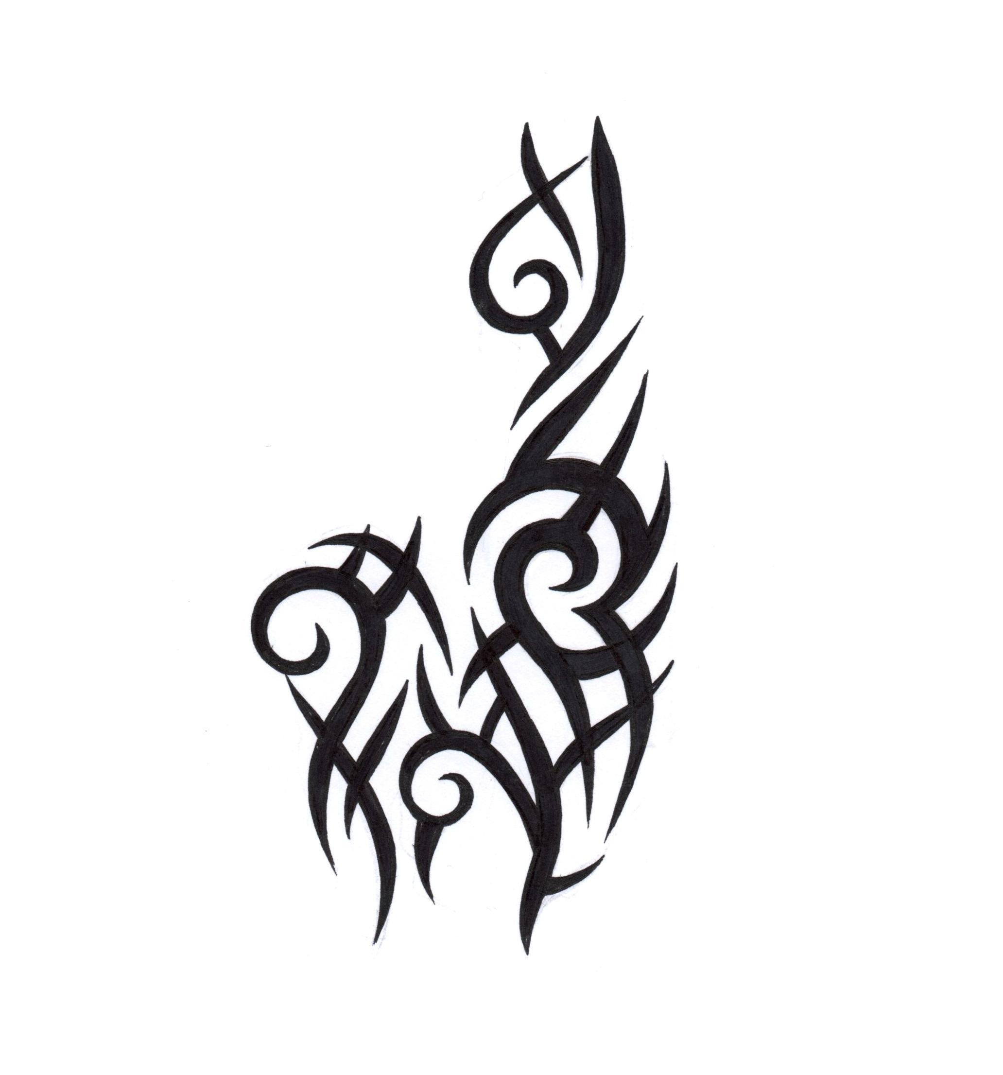 tribal alpaca hand drawn
