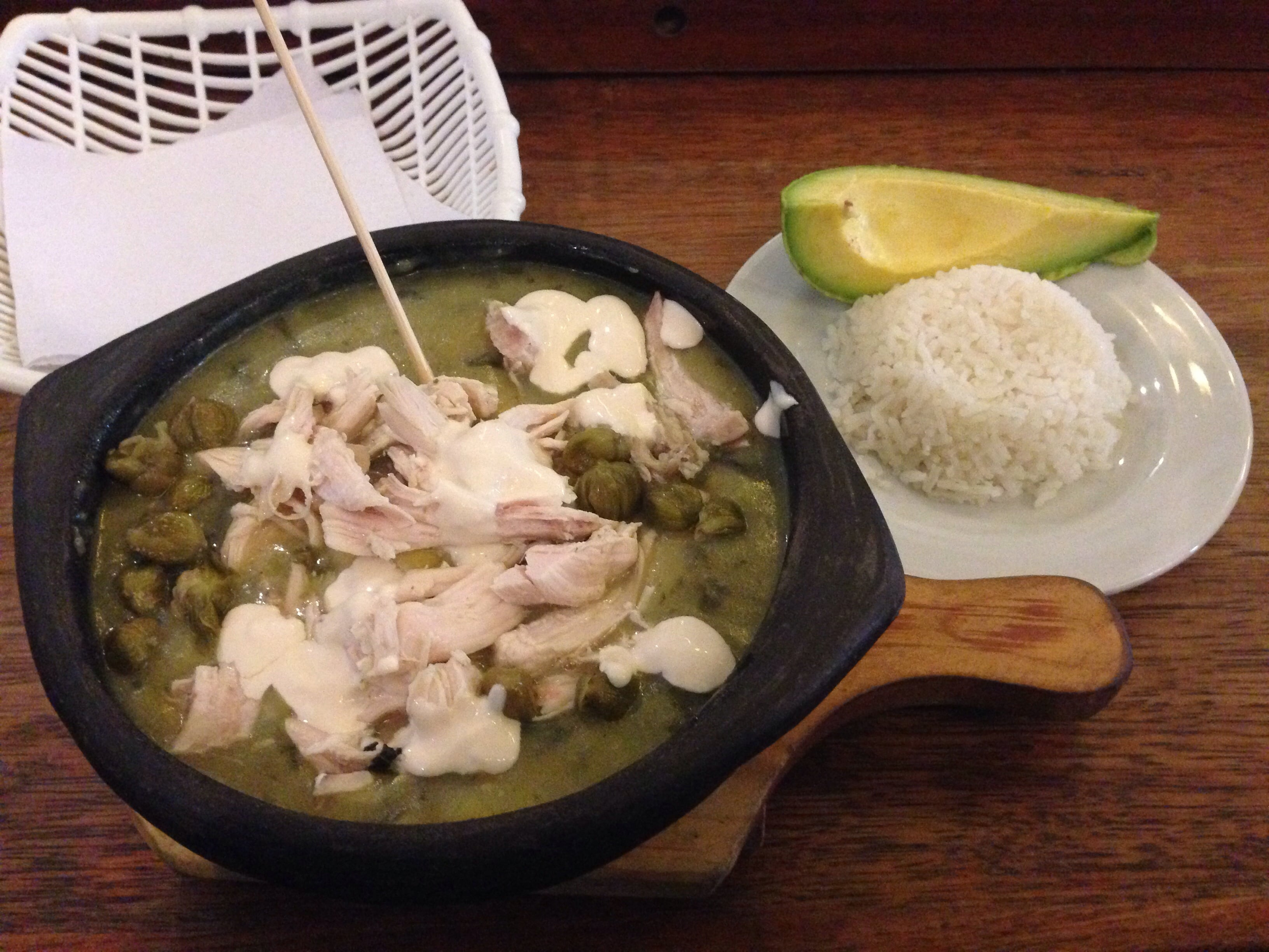 ajiaco in Bogota Colombia is great Colombian food