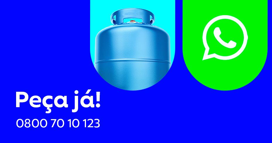 Peça seu botijão de gás azul pelo WhatsApp da Ultragaz!