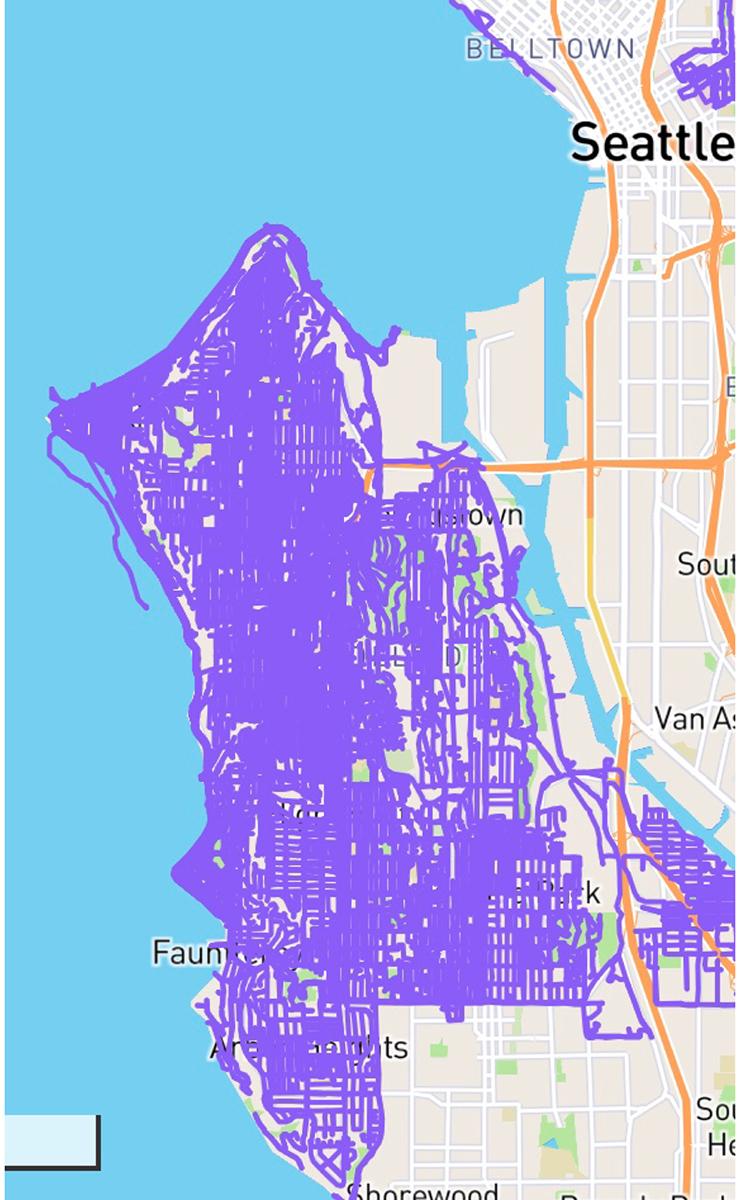 photo of running map