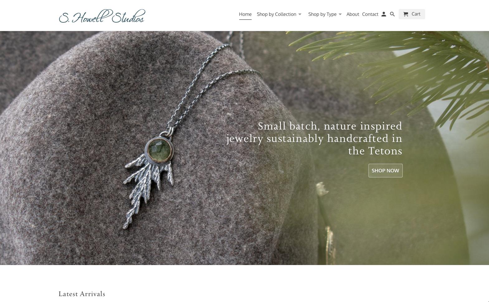 S. Howell Studios website design