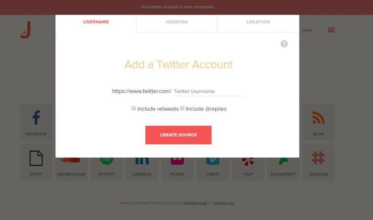 Twitter feed on website using Juicer