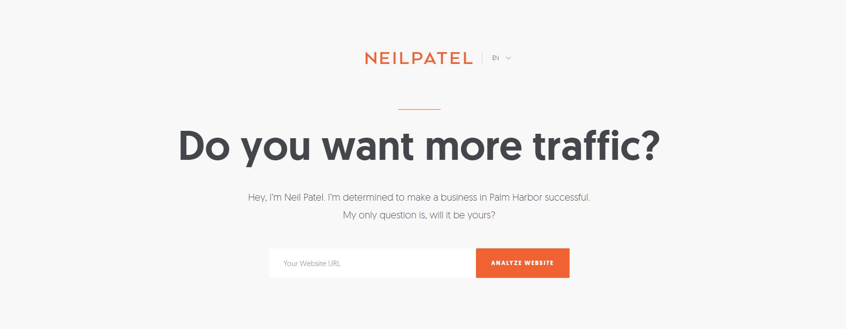 Neilpatel Homepage