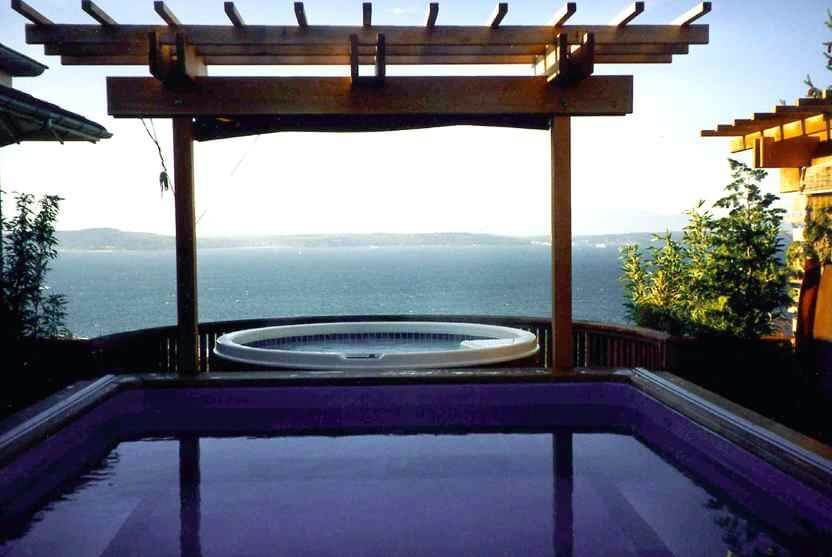 the Endless Pool on a Seattle rooftop