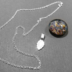 Glass cabochon pendant necklace materials