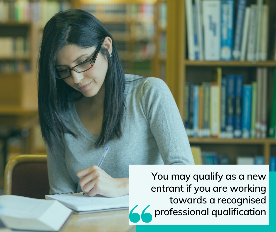 qualified professional studying