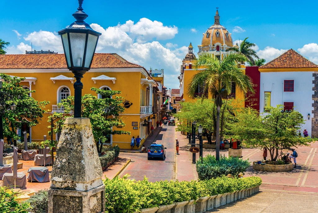 Old Town aka Walled City in Cartagena Colombia