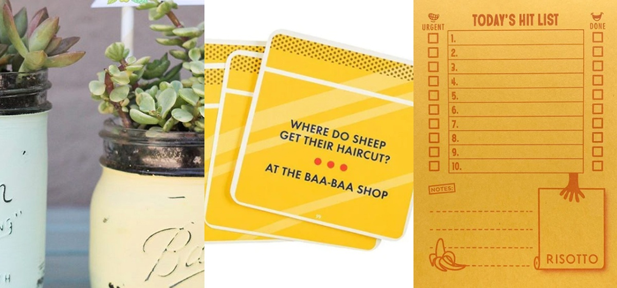 yellow gift ideas
