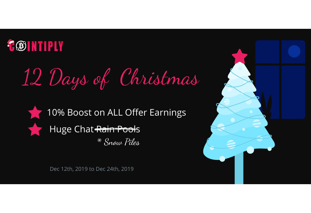 Boost Your Earnings and Get Free Coins in Cointiply's 12 Days of Christmas!