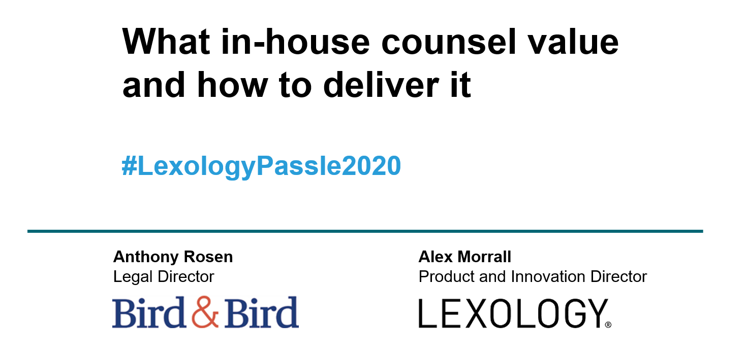 What do in-house counsel value from content? - Blog - Lexology