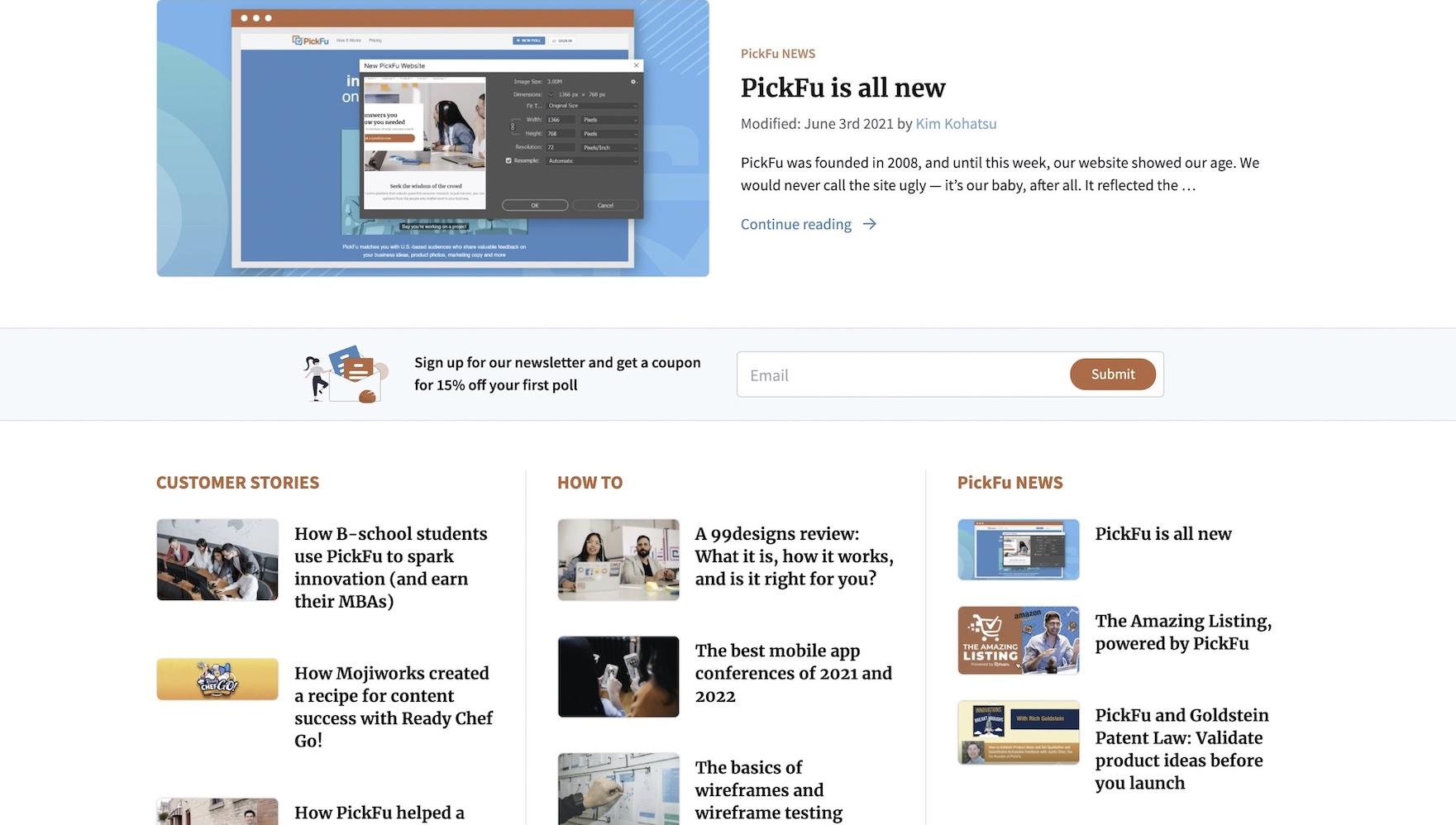 Image of PickFu blog