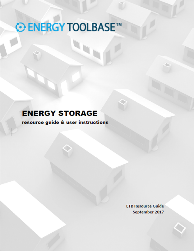 Energy Storage Resource Guide & User Instructions
