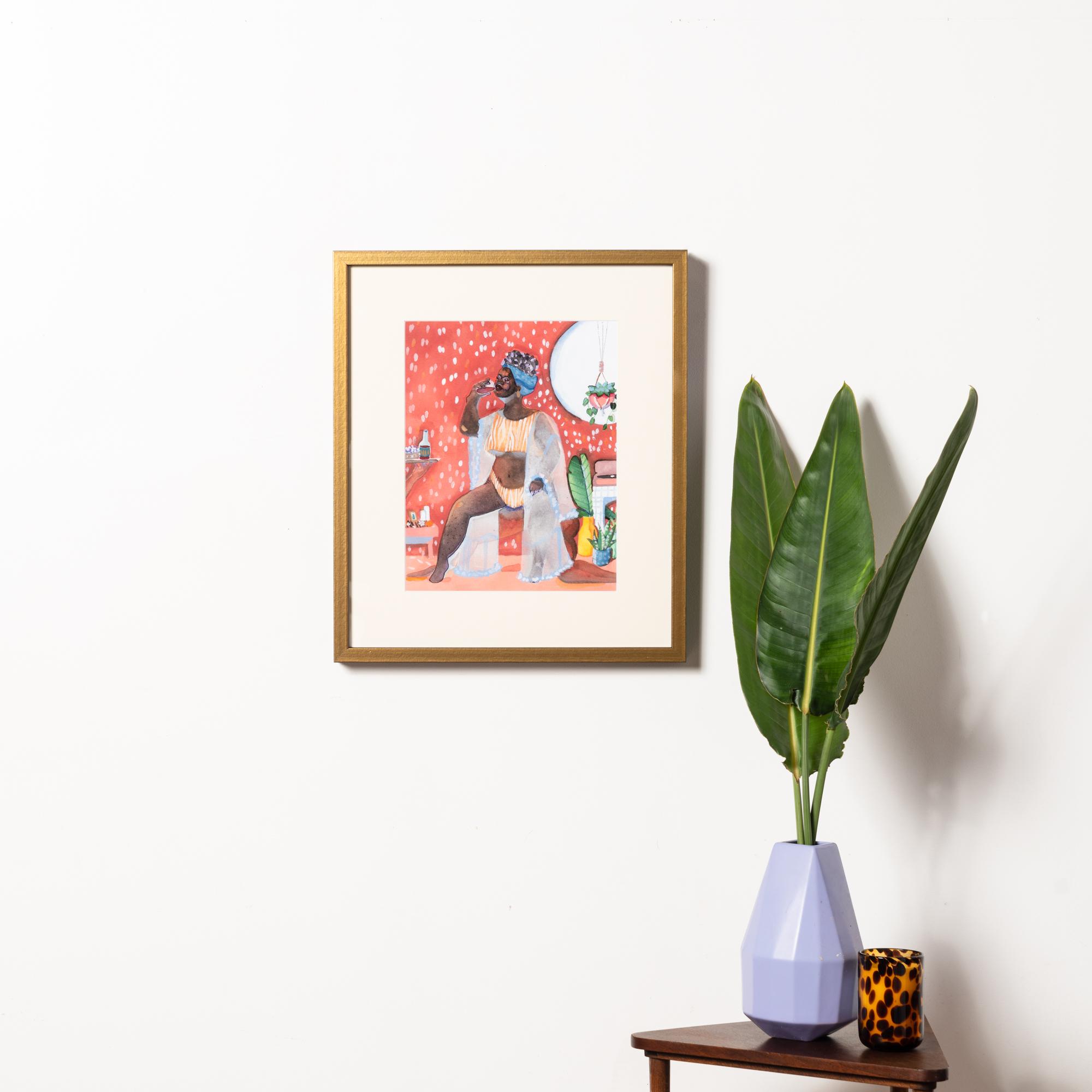Framebridge Black Artists Print Shop Chiomma Hall I Deserve It All framed print Paris frame