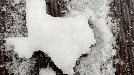 Texas Map Snow Storm