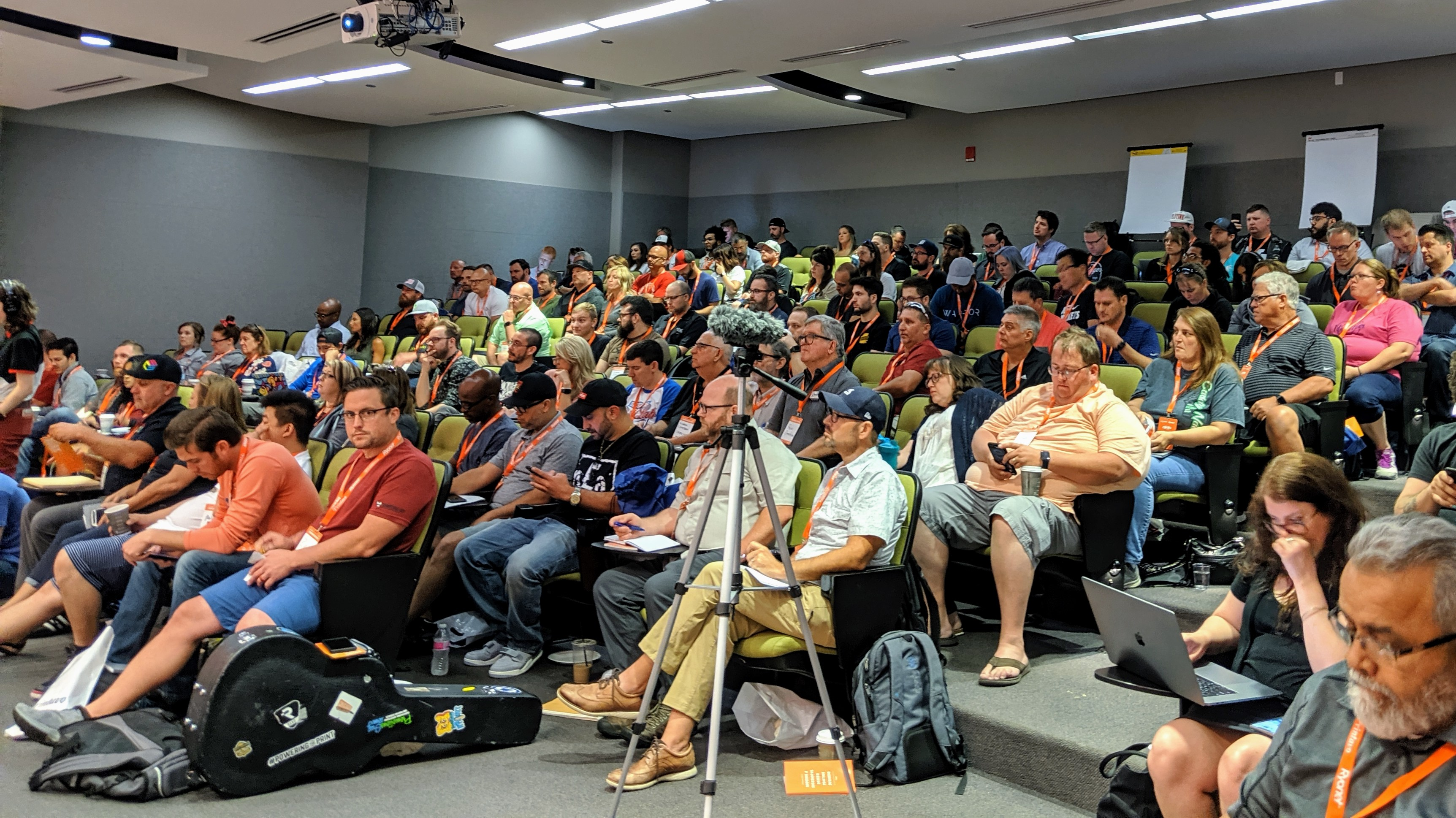 The audience at PrintHustlers Conf 2019