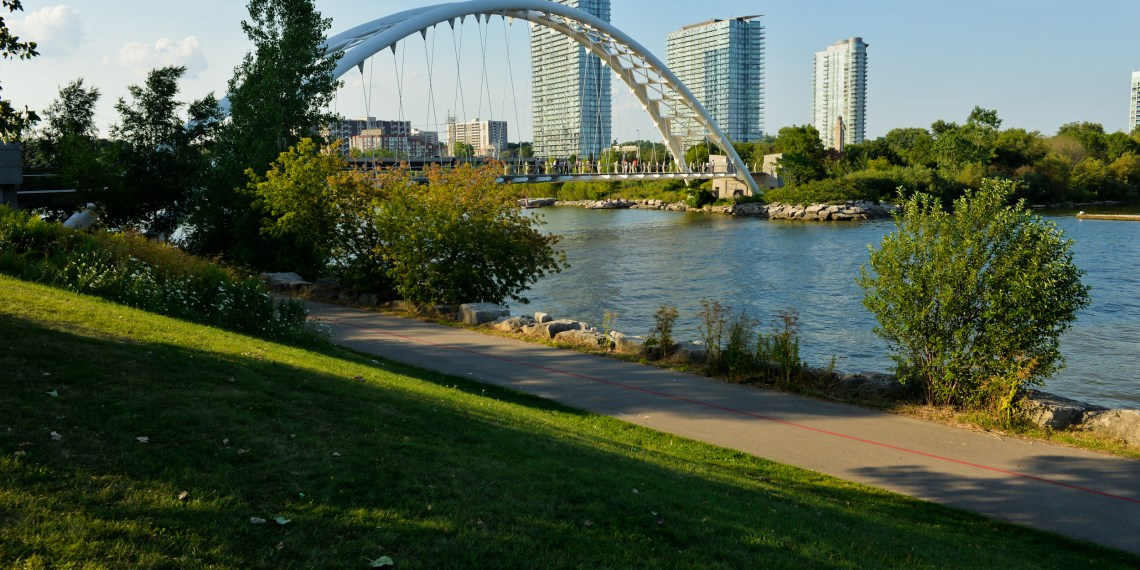 walking bridge and sky line