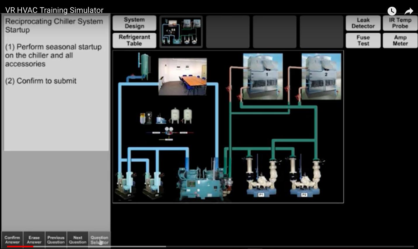 VR HVAC training simulator