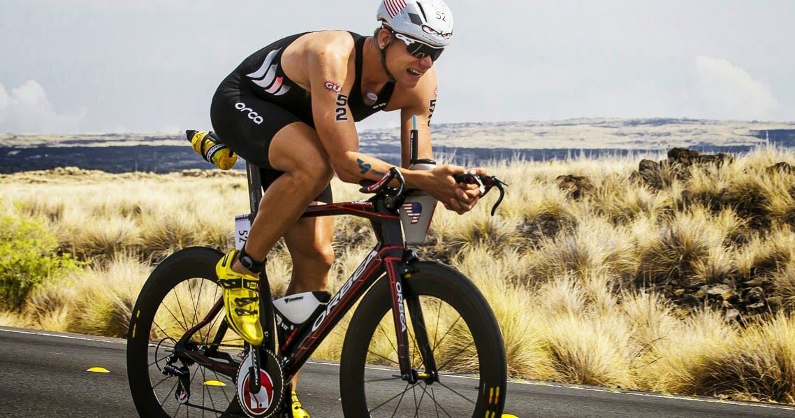 professional triathlete Andrew Starykowicz training for the bike leg