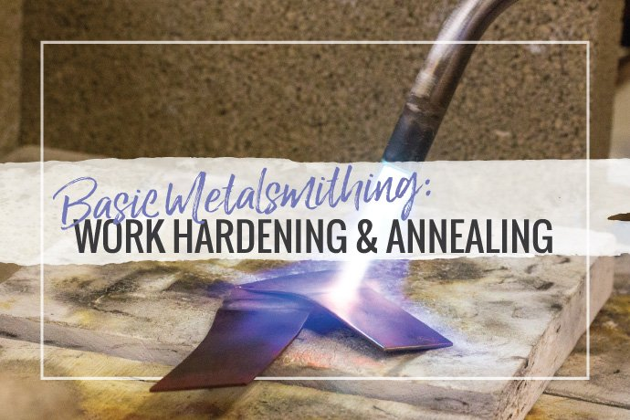 Learn how work hardening affects your jewelry making and learn how annealing your sheet metal can help. Understand this basic metalsmithing concept better.